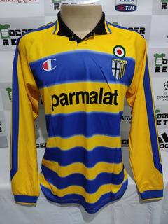 Camisa Parma 1999-00 Crespo 9 Serie A Manga Longa