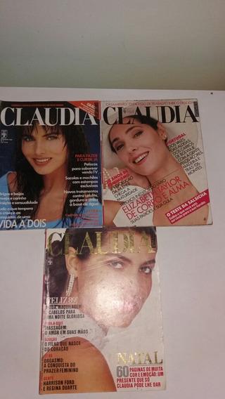 Revista Claudia De 1988 Lote Com 3 Revistas Anos 80