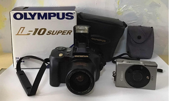 Máquina Fotográfica Olympus L-10 Super + 1 Canon Ixy Brinde