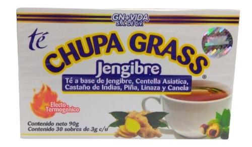Te Jengibre Chupa Grass Grasa Gn + Vida 30 Sobres Envio Full