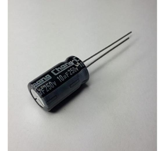 500 Capacitores Eletrolíticos 10uf X 250v 10x16