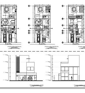 Plano De Casa 3 Rec. Para Terreno 10x20 Listo Para Construir