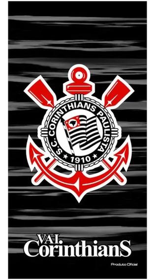 Toalha Veludo 70x140cm Oficial Vai Corinthians - Bouton