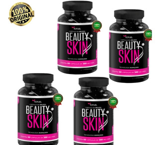 Colágeno Beauty Skin 4 Pote S/flacidez/celulite/rugas Oferta