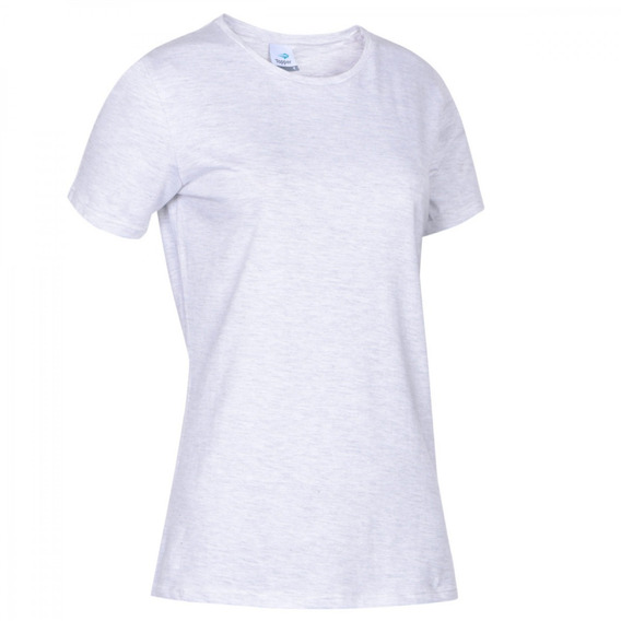 Remera Topper T-shirt Básica Mujer Gris Claro