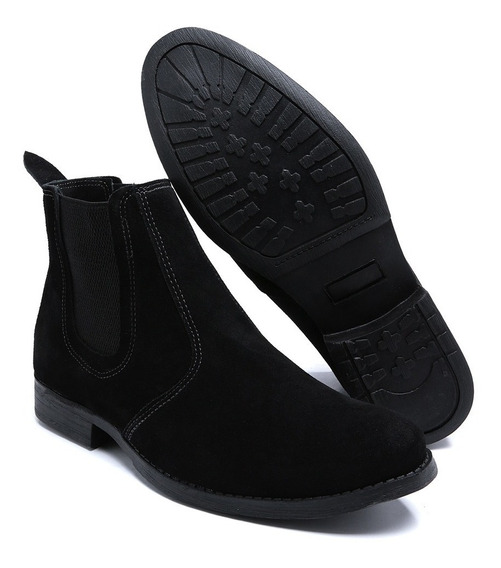 Bota Chelsea Masculina Camurça Couro Legítimo Boots Botina