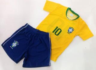 Kit Infantil Clubes Seleção Brasileira Brasil R