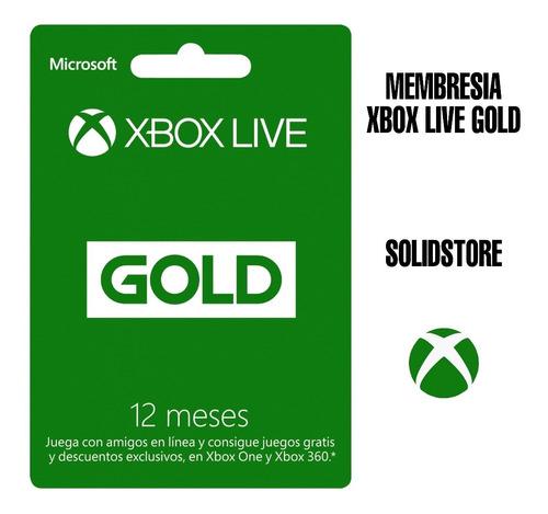 Membresía Xbox Live Gold 12 Meses  Codigo Digital