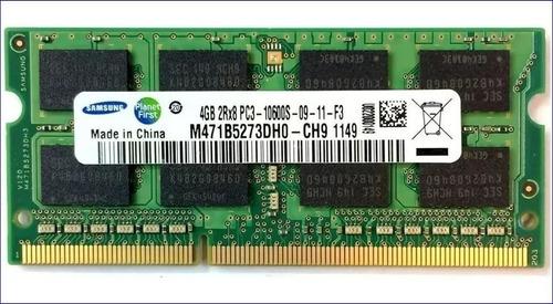 Memoria Sodimm 4 Gb, Ddr3, 1333 Mhz, Pc3 10600 - Samsung