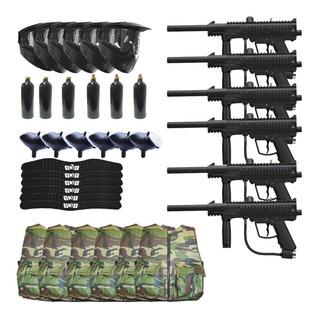6 Paquetes P/ Campo Gotcha Paintball Swat Outkast Marcadora