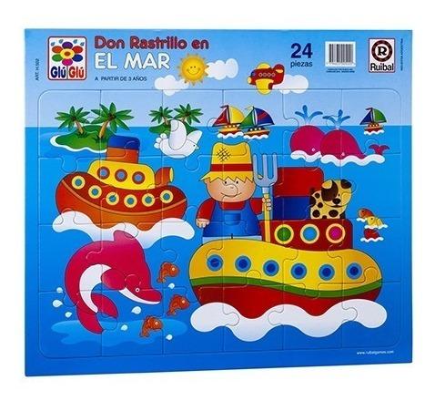Juego Puzzle Don Rastrillo En El Mar 24 Pzs. (+ 5 Años)