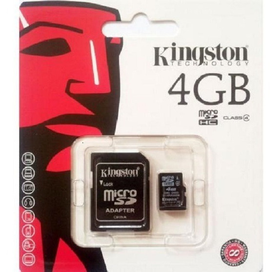 Memoria Micro Sd Kingston 4 Gb Com Adaptador - Original