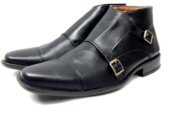 Zapato Botita Con Hebilla De Hombre