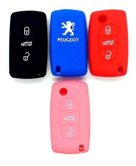 Funda Cubre Llave Peugeot 307 407 408 3 Botones