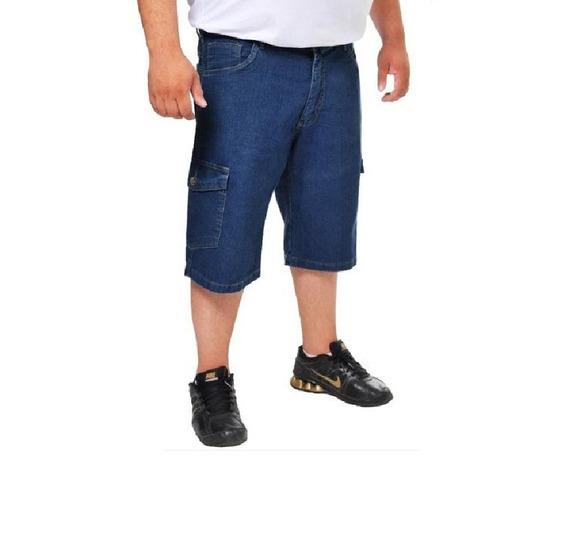 Bermuda Jeans Masculina Plus Size Tamanho Grande Até 68 Gran