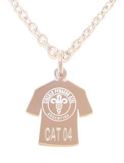 Medalla Acero Camiseta Escudo Egresados Club 5 U. Laser