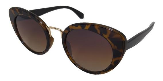 Óculos De Sol Retro Forma Gatinho Onça