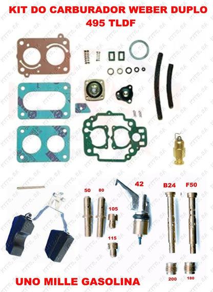 Reparo Do Carburador Uno Mille Gasolina Duplo 495 Tldf