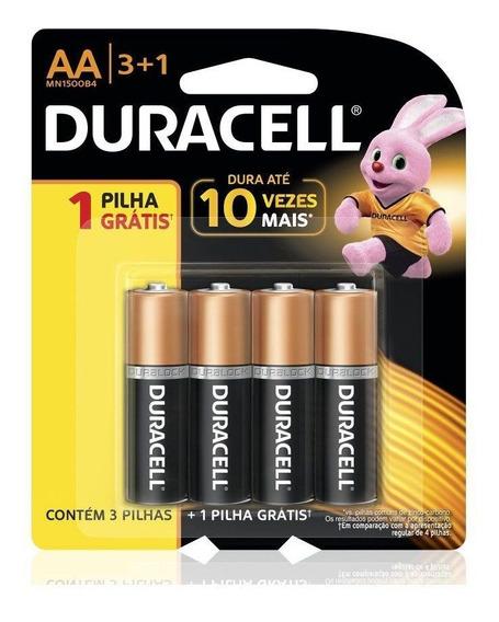 Pilha Alcalina Duracell Aa 4