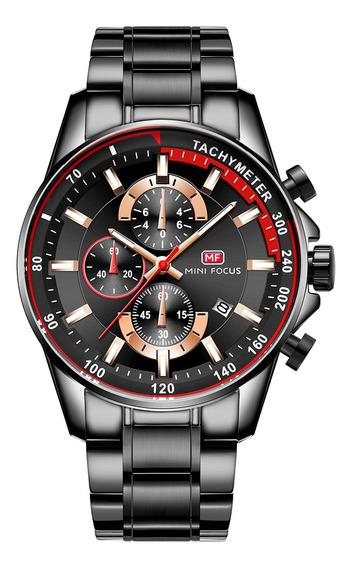Mini Focus Mf0218g Relógio De Quartzo Homens Esporte Simple