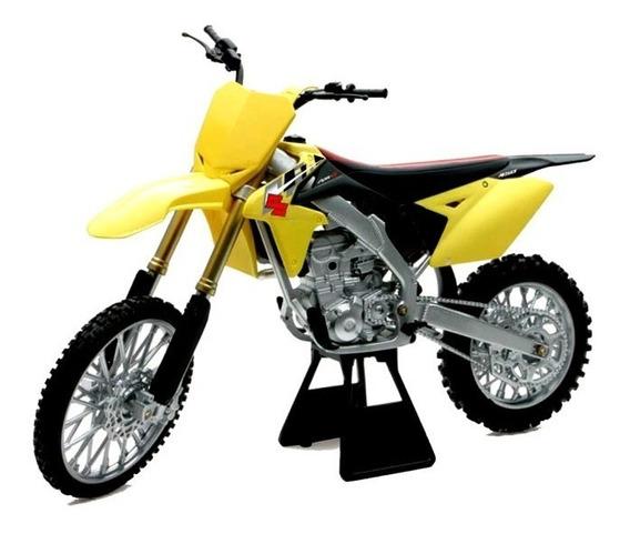 Moto Suzuki Rm Z450 Escala 1:12 New Ray Motocross Oficial