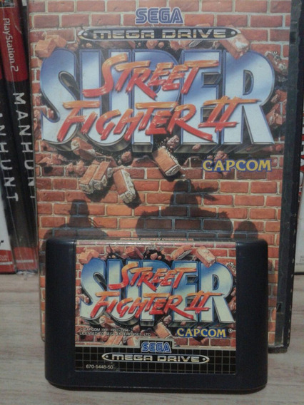 Super Street Fighter 2 Original Mega Drive Com Caixa