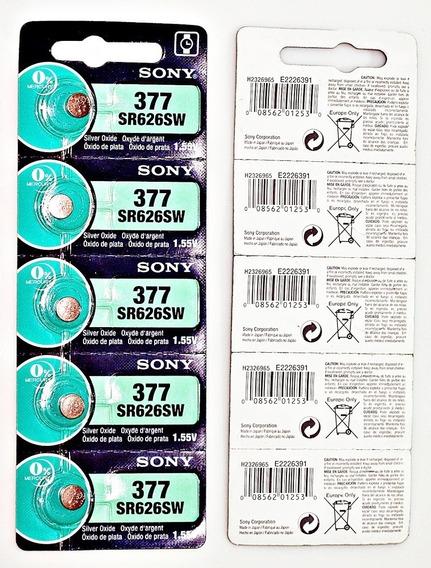 10 Pilas Sr626sw 377 Sony Oxido De Plata Originales Frescas