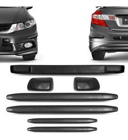 Kit Protetor Para-choque Honda Civic 10 A 16 Preto 7 Peças