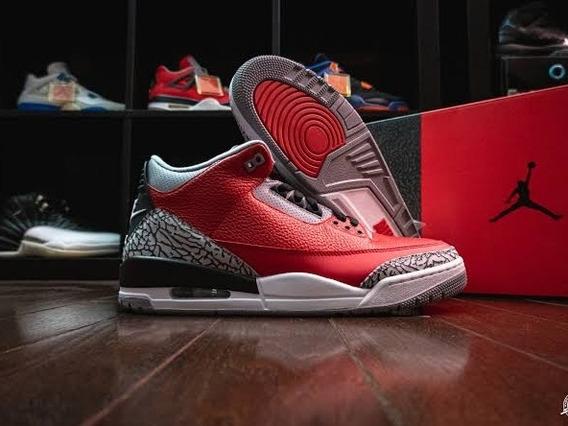 Air Jordan 3 Retro Unite Fire Red Cement Originales Último