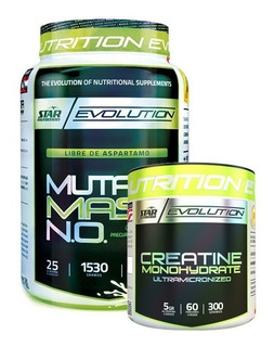 Mutant Mass N.o. 1,5 Kg + Creatine Monohydrate Ultra Micronized 300 Grs Star Nutrition