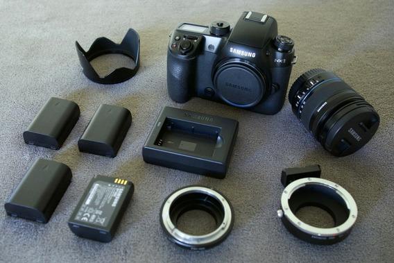 Câmera Samsung Nx1 Com Lente E Acessórios (7d A6500 Gh4 Gh5)