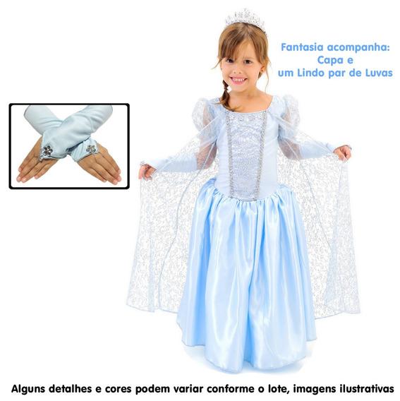 Capa Vestido Elsa Frozen Calçados Roupas E Bolsas Com O