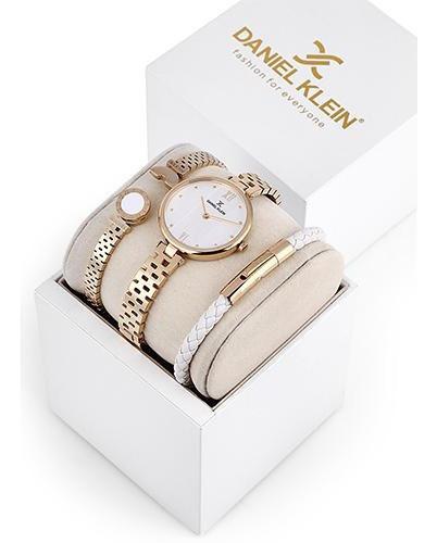 Relógio Analógico Daniel Klein Gift Set Dk12102-2 + Pulseira