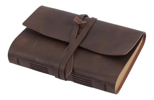 Cuaderno Diario De Cuero Forrado A Mano - Bloc De Notas D