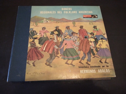 Imagen 1 de 5 de Lp 5 Discos Danzas Regionales Folklore Argentino Hnos Ávalos