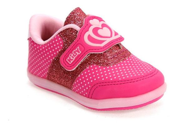 Tênis Menina Colors Coração Rosa Pink Kidy