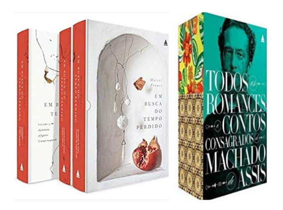 Box Livros Marcel Proust + Box Romances Machado De Assis