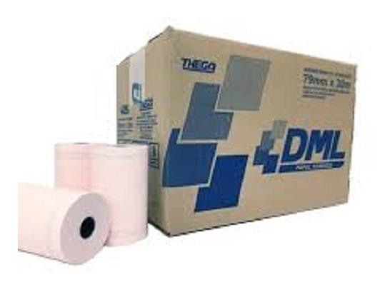 Caixa De Bobina Termica 80x40 C/30un. Impressoras Fiscais