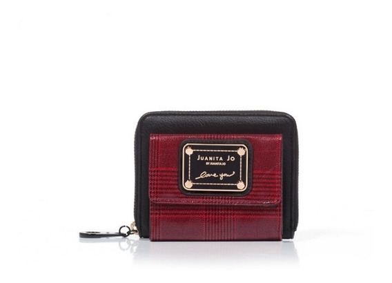Billetera Juanita Jo Pocket Rojo Negro