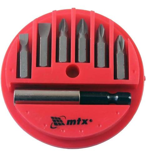 Jogo De 7 Bits Com Adaptador Magnético De Aço Mtx 113929