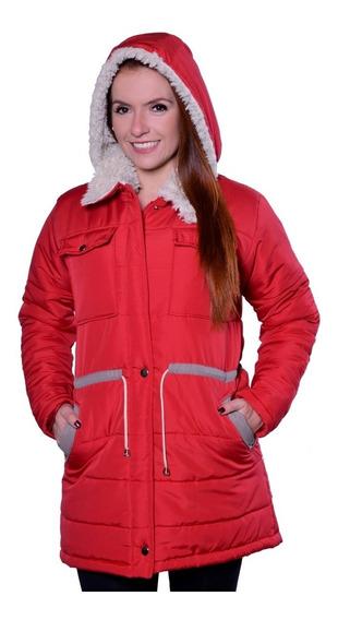 Casaco Jaqueta Plus Size Capuz Inverno Rigoroso Neve Frio