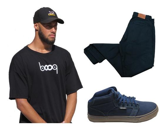 Camisetas Booq + Tênis Your Face Original + Calça Wordmif21