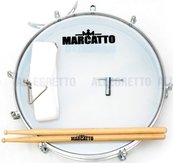 Tarol 10cm X 12 Marcatto M3001 C/ Baqueta E Talabarte