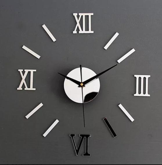 Relógio Parede 3d Romano Decorativo - Pronta Entrega -