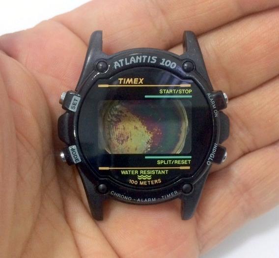 Caixa Nova Relógio Timex Atlantis Black Completa C/tampa