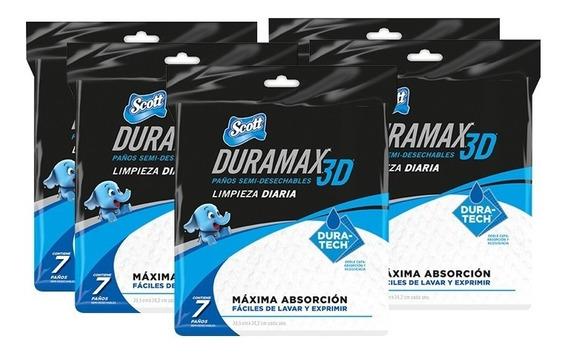 Scott Duramax 7 Paños Reutilizables Multiuso Pack X 5