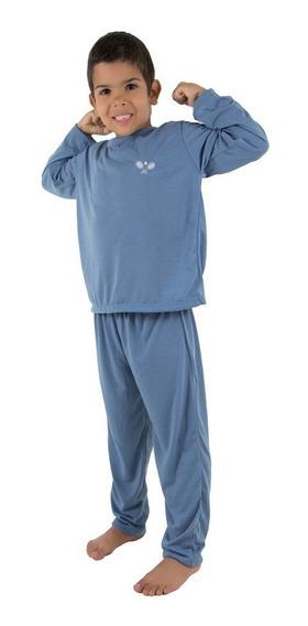 Pijama Infantil Masculino Longo Liso 078