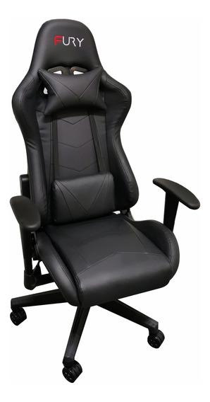Cadeira Gamer Fury - Reclinável, Ajustável Preta 7000p