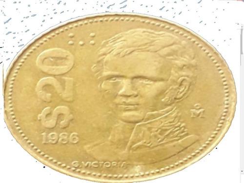 Imagen 1 de 1 de Moneda 20 Pesos Año 1986 Escasa