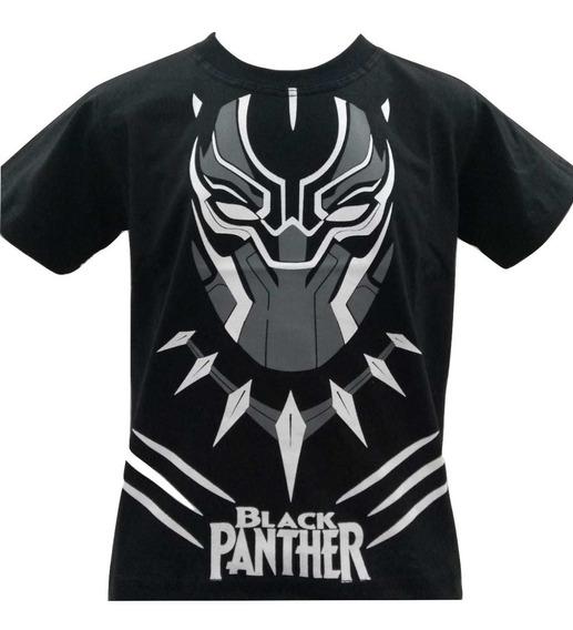 Camiseta Camisa Infantil Ultimato Vingadores Pantera Negra